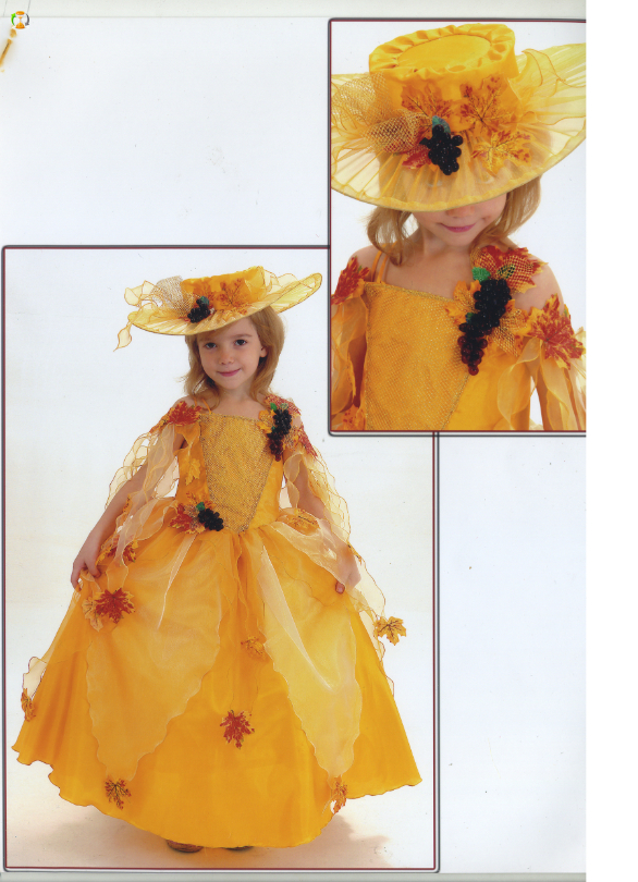 Платье для осеннего бала для девочки сшить своими руками
